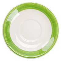 CAC R-2-G Rainbow 6 inch Green Saucer - 36/Case