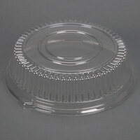 Sabert 5512 12 inch Clear Dome Lid for Round Catering Tray - 6 / Pack