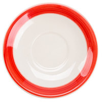 CAC R-2-R Rainbow 6 inch Red Saucer - 36/Case