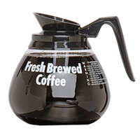 Grindmaster 98005 64 oz. Glass Coffee Decanter with Black Handle - 3 / Pack
