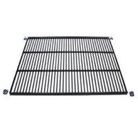 True 947903 Black Coated Narrow Gap Wire Shelf with Shelf Clips - 43 3/4 inch x 17 1/2 inch