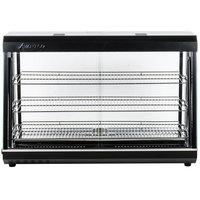 Avantco HDC-48 48 inch Self Service 3 Shelf Countertop Heated Display Warmer with Sliding Doors - 110V, 1500W