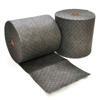 Spilfyter DB-91 Universal Gray Heavy Weight Absorbent Roll - 16 inch x 150' - 2 / Case