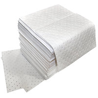 Spilfyter Z-75 Oil Only White Heavy Weight Absorbent Pad - 16 inch x 18 inch - 100 / Case