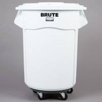 Rubbermaid White 55 Gallon Mobile Brute Ingredient Bin Kit