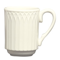 Homer Laughlin 3657000 Gothic American White (Ivory / Eggshell) 8 oz. Stackable Mug - 36/Case