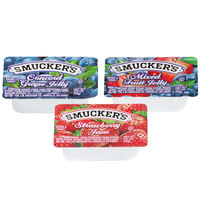 Smucker's Strawberry Jam, Concord Grape & Mixed Fruit Jelly - (200) .5 oz. Portion Cups / Case