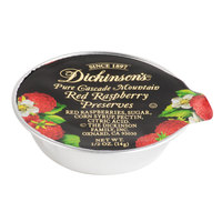 Dickinson's Pure Cascade Mountain Red Raspberry Preserves - (200) .5 oz. Portion Cups / Case