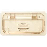 Cambro 30HPL150 H-Pan 1/3 Size Amber High Heat FlipLid