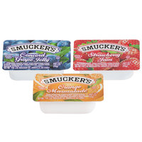 Smucker's Concord Grape Jelly, Strawberry Jam, & Orange Marmalade - (200) .5 oz. Portion Cups / Case