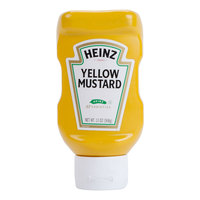 Heinz Yellow Mustard 13 oz. Upside Down Squeeze Bottle - 16/Case