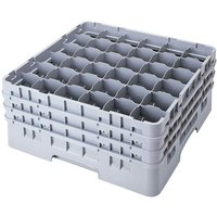 Cambro 36S418151 Soft Gray Camrack 36 Compartment 4 1/2 inch Glass Rack