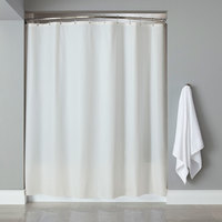 Hooked White 6-Gauge Vinyl Shower Curtain with Chrome-Plated Copper Grommets - 72 inch x 72 inch