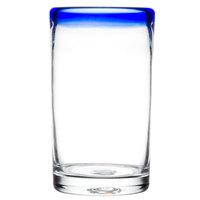 Libbey 92303 Aruba 16 oz. Cooler Glass with Cobalt Blue Rim   - 12/Case