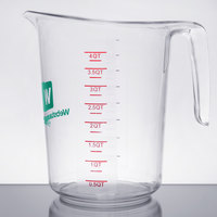 WebstaurantStore Logo 4 Qt. Clear Polycarbonate Measuring Cup