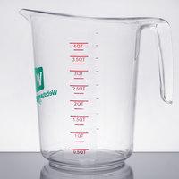 WebstaurantStore Logo 4 Qt. Clear Polycarbonate Measuring Cup