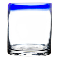 Libbey 92302 Aruba 12 oz. Rocks Glass with Cobalt Blue Rim - 12 / Case