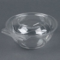 Polar Pak 5HGR024-TV Clear Tamper-Visible 24 oz. Round Bowl with Lid - 150/Case