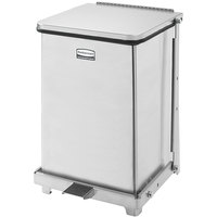 Rubbermaid FGST7 The Defenders Stainless Steel Square Medical Step Can with Rigid Plastic Liner 7 Gallon - (FGST7SSPL)