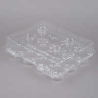 Par-Pak 9513 12 Compartment Clear Hinged PET Cupcake Takeout Container - 100/Case