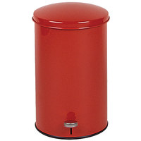 Rubbermaid FGST35E The Defenders Steel Round Red Medical Step Can with Galvanized Liner 3.5 Gallon - (FGST35EGLRD)