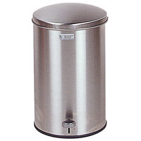 Rubbermaid FGST35 The Defenders Stainless Steel Round Medical Step Can with Galvanized Liner 3.5 Gallon - (FGST35SSGL)