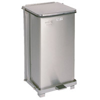 Rubbermaid FGST12 The Defenders Stainless Steel Square Medical Step Can with Rigid Plastic Liner 12 Gallon - (FGST12SSPL)