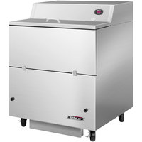 Turbo Air TMKC-34S-SS 34 inch Single Sided Stainless Steel Milk Cooler - 115V