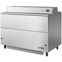 Turbo Air TMKC-58D-SS 58 inch Dual Sided Stainless Steel Milk Cooler - 115V
