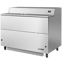Turbo Air TMKC-58S-SA 58 inch Single Sided Stainless Steel Milk Cooler - 115V
