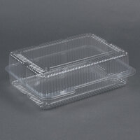 Par-Pak 2134 12 inch x 8 inch x 4 inch Jumbo Clear Hinged Deep Takeout Container - 150 / Case