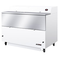 Turbo Air TMKC-58S-WA 58 inch Single Sided White Vinyl and Stainless Steel Milk Cooler - 115V