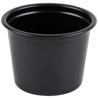 Dart Solo P100BLK Black 1 oz. Plastic Souffle / Portion Container - 2500 / Case