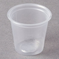 Dart Solo Conex Complements 125PCG 1.25 oz. Translucent Plastic Graduated Medicine Cup - 2500/Case