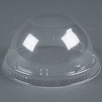 Dart Solo 16LCD Clear PET Dome Lid without Hole - 1000/Case