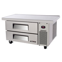 Turbo Air TCBE-36SD-E 36 inch Two Drawer Refrigerated Chef Base with Extended Top - 6.1 cu. ft.