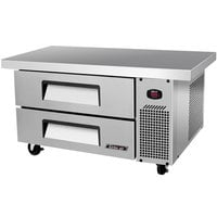 Turbo Air TCBE-36SDR-E 36 inch Two Drawer Refrigerated Chef Base with Extended Top - 6.1 cu. ft.