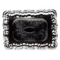 Carlisle 608918 Celebration Embossed Rectangular Tray with Ornate Border - 21 inch x 15 inch