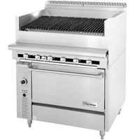 Garland / U.S. Range C836-36A 36 inch Radiant Charbroiler With Standard Oven - 148,000 BTU
