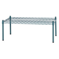 Regency 36 inch x 18 inch x 14 inch Green Epoxy Coated Wire Dunnage Rack - 600 lb. Capacity