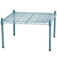 Regency 24 inch x 24 inch x 14 inch Green Epoxy Coated Wire Dunnage Rack - 600 lb. Capacity