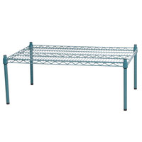 Regency 36 inch x 24 inch x 14 inch Green Epoxy Coated Wire Dunnage Rack - 600 lb. Capacity