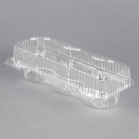 Polar Pak 2341 3 Compartment Clear Muffin Takeout Container - 10/Pack