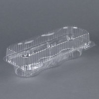 Par-Pak 2341 3 Compartment Clear Muffin Takeout Container - 10/Pack