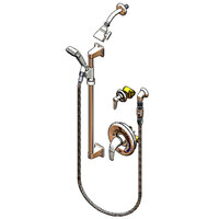 T&S B-3306-VB Shower Package with Pressure Balancing Mixing Valve, Chrome Face Plate, Shower Head, Spray Assembly, and Vacuum Breaker - Threaded Connections