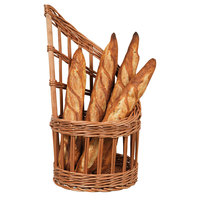 Matfer 573421 11 inch Round Wicker Bread Basket