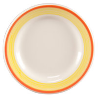 Homer Laughlin 2098082 Martiques 10 1/4 inch Rolled Edge Plate - 12/Case