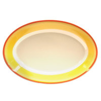 Homer Laughlin 1558082 Martiques 11 3/4 inch Rolled Edge Oval Platter - 12/Case