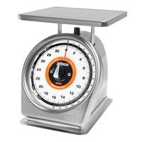 Rubbermaid Pelouze 832SRWQ QuickStop 32 oz. Portion Scale Dishwasher Safe - 9 inch x 9 inch Platform (FG832SRWQ)