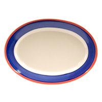 Homer Laughlin 1538072 Sovona 9 1/2 inch Rolled Edge Oval Platter - 24 / Case